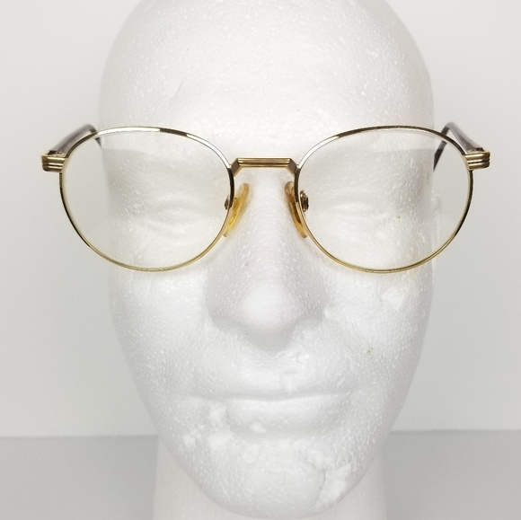 220783bfd Vintage Accessories | 80s Silhouette Gold Brown Round Glasses | Poshmark